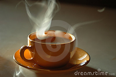 A cup of hot tea or coffee