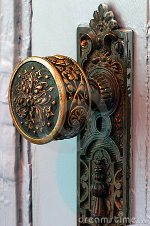 Antique brass door knob