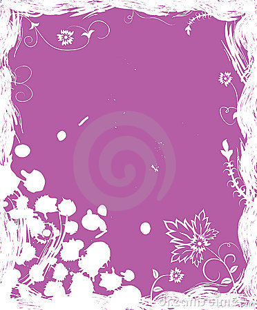 Grunge background flower, elements for design, vector