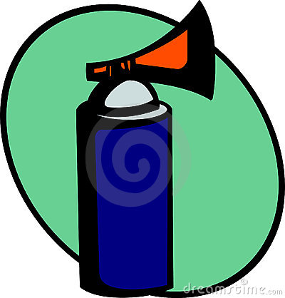 emergency air horn signal or alarm. Vector