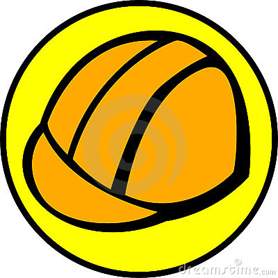Construction hardhat or helmet. Vector available