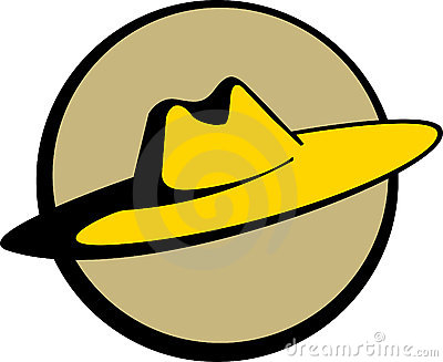 Mexican sombrero or straw hat. Vector available