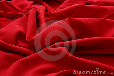 Remnant of red wool