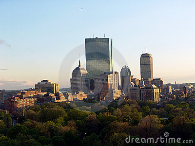 Boston Skyline in the afternoon