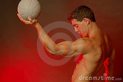 Male with ball
