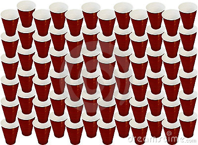 Plastic cup background