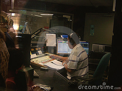 Disc Jockey in Radio Station