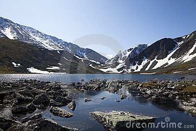 Mountain rocky lake