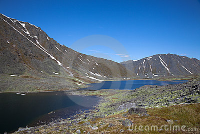 Lakes at Polar mountains valley
