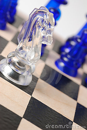 Transparent chess horse