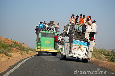 Bus transportation in India