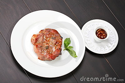 Juicy beef steak