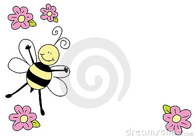 Nice bee and flowers