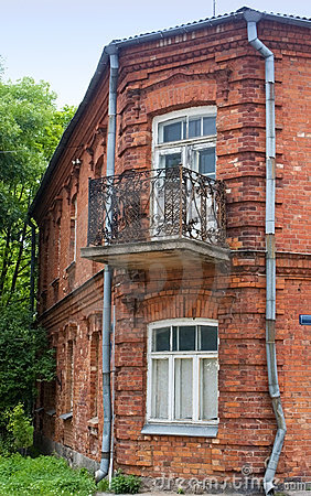 Old red brick building