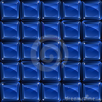 Blue glass blocks - seamless pattern