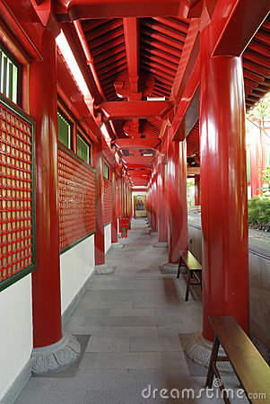 Passageway at the Buddha Tooth Relic Temple