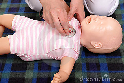 Infant medical examination demonstration