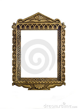 Empty wooden carved Frame for picture or portrait