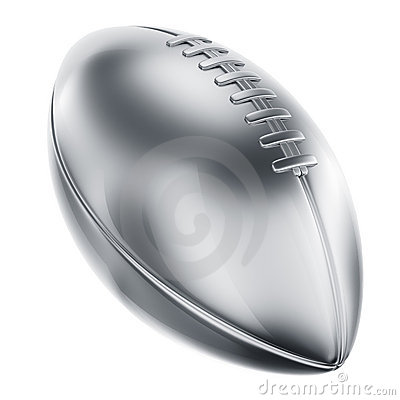 American football in silver