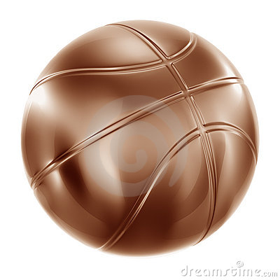 Basketball in bronze