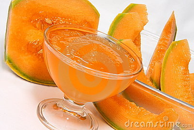Crushed ice of melon