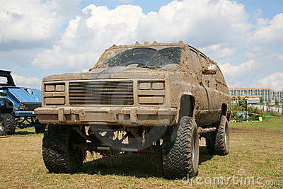 Dirty offroad car