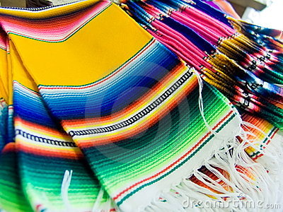 Colorful Mexican  serapes
