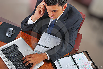 Businessman speaking over the phone