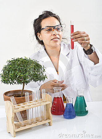 Scientist lab plant