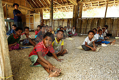 Melanesian People / School in Papua New Guinea