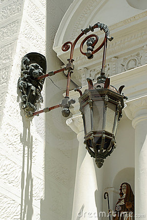 Lamp on Cathedral - Copacabana, Bolivia