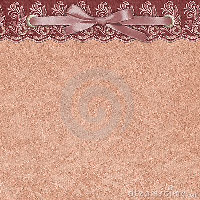 Background with a lace. Textile.