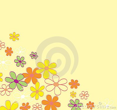 Retro flower background texture