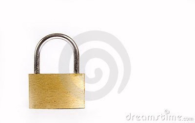 Old lock isolated