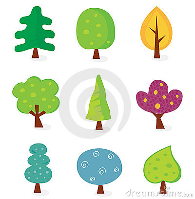 Retro tree designs