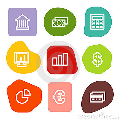 Finance web icons, colour spots series