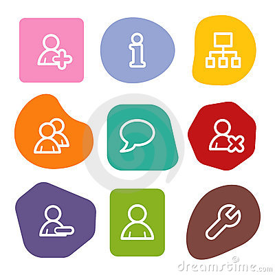 Users web icons, colour spots series