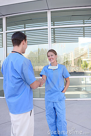 Medical Team Handshake