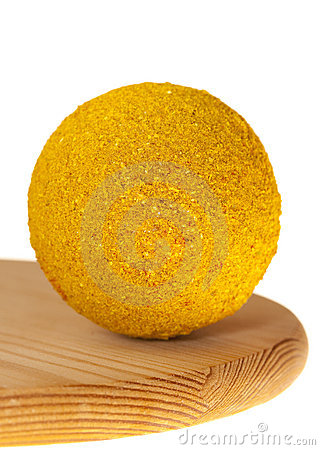 Hot curry powder spice  in ball shape
