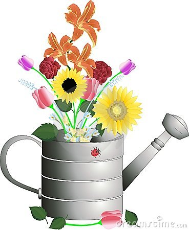 Watering Can Flower Pot