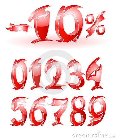 Arabic numerals design
