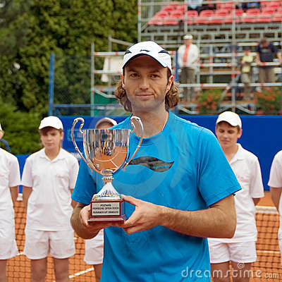 Poznan Porshe Open 2009 - Y.Schukin with trophy