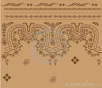 Antique border pattern