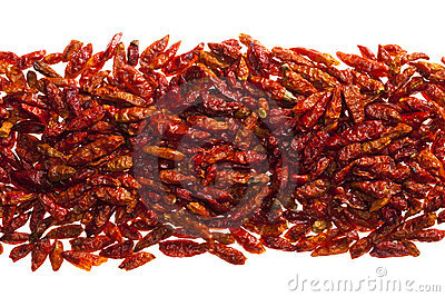 Hottest red bird eye chillies peper