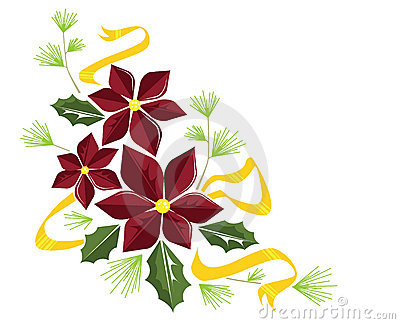Poinsettia flourish