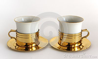 Set of two porcelain cups