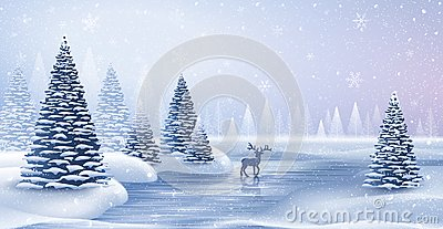 stock image of christmas card with reindeer