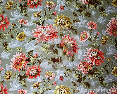 Original textile fabric ornament of the Modern style. Crock is hand-painted with gouache.