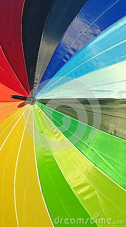 parasol rainbow of colours