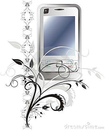 Mobile telephone and ornament